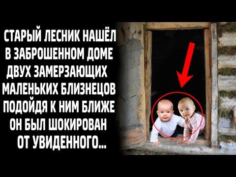 Лесник нашёл в заброшенном доме двух новорожденных малышей, подойдя к ним ближе, он обомлел...