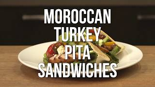 Moroccan Turkey Pita Sandwiches