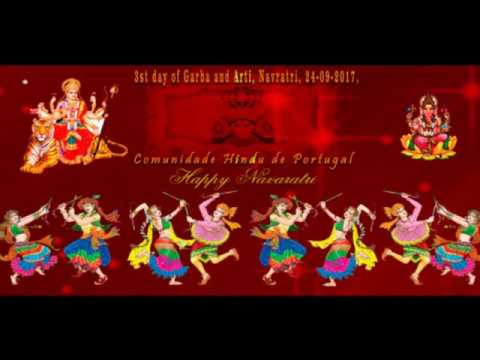 Navratri,  3rd day of Garba, dandiya and Aarti,24-09-2017, Lisbon, Portugal, (Amaidas)