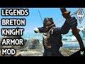 LEGENDS- BRETON KNIGHT ARMOR: Amazing Armor Mod- Xbox Modded Skyrim Mod Showcase