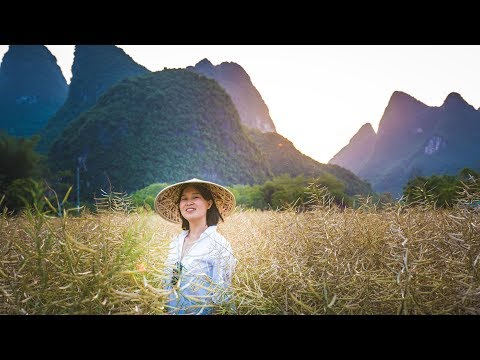 The Beautiful Guilin Girl - Tandem Ride & Drone Footage - Yangshuo, Guilin, China Vlog