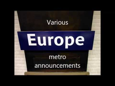 Various Europe metro announcements