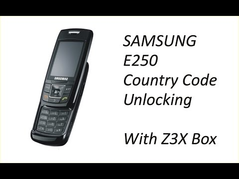 How to Unlock Samsung E250 with Z3x