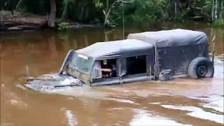 Land Rover Militar bebeu agua no Pantanal - 7 Trilha Coxim Pantanal 2018