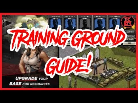 The Walking Dead: Road to Survival - Training Ground Guide! (Basic Resource Info)
