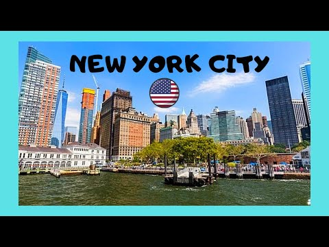 NEW YORK CITY, a tour around famous BATTERY PARK, USA