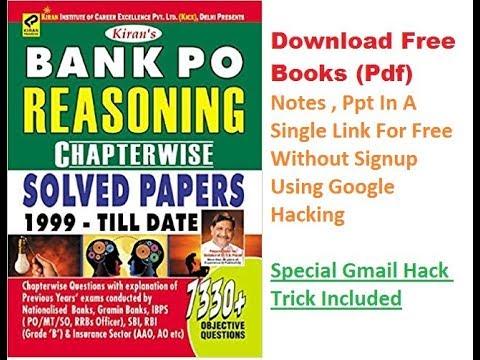 Bank Po Exam Books Pdf