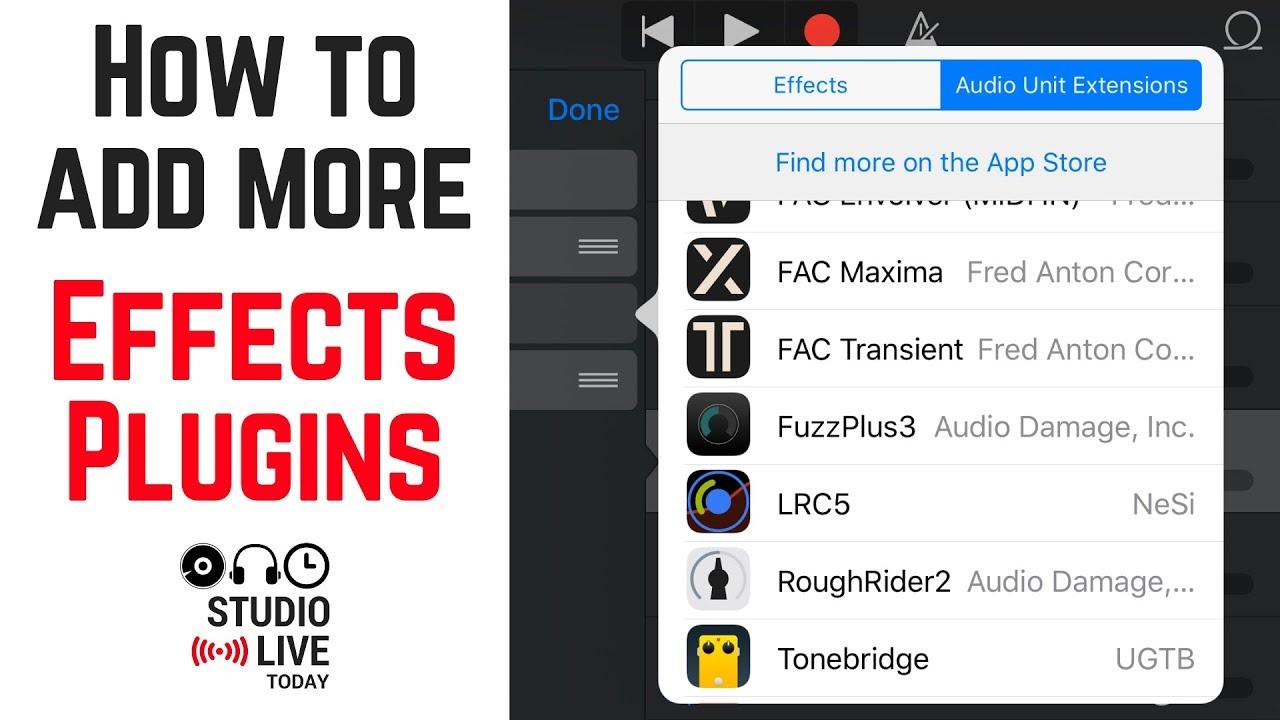 How to use audio units in GarageBand iOS (iPhone/iPad)