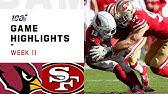 Cardinals vs. 49ers Week 11 Highlights   NFL 2019