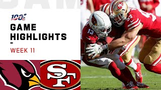 Download Cardinals vs. 49ers Week 11 Highlights | NFL 2019 Mp3 and Videos