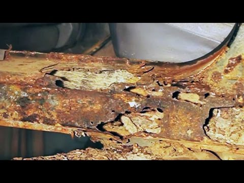 Repairing severe automotive body and frame rust at home. - YouTube