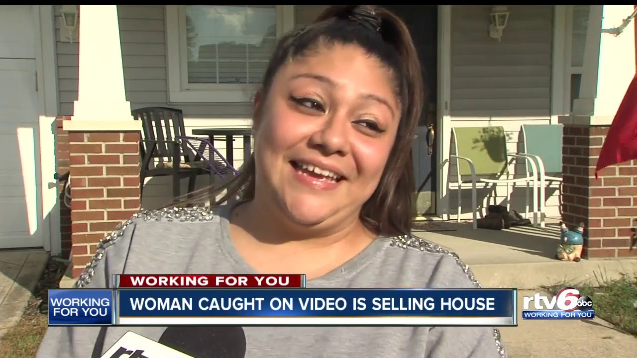 Indy woman caught on video attacking neighbors to sell home