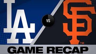 6/7/19: Pomeranz, Pillar lead Giants past Dodgers