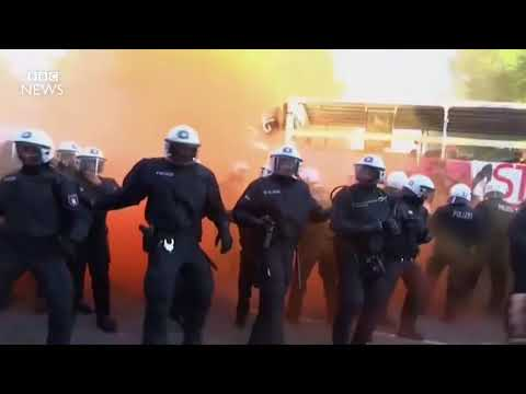 G20 summit׃ Protesters and police clash in Hamburg   BBC News INFOWORS EUROPA