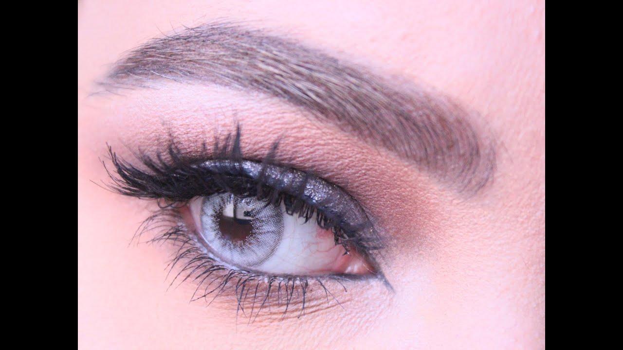 49899e727263f Gray Makeup look Tutorial using MUFE مكياج سهره رمادي II RaneemIsm ...