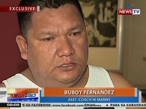 NTG: Buboy Fernandez, inaming kinumbinse niya si Manny na ituloy ang laban