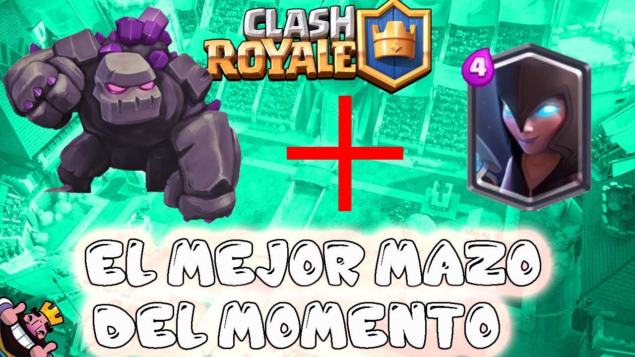 El Mejor Mazo Del Momento Golem Bruja Nocturna Clash Royale El Chicha Youtube