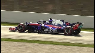 Toro Rosso STR13 Sound on Track | F1 2018 Pre Season Test