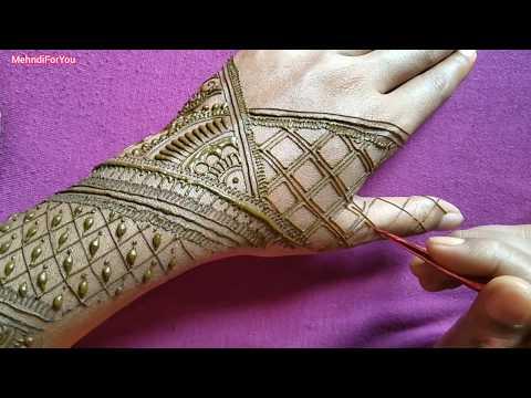 Simple bridal mehndi design tutorial || Mehndi design || Easy dulhan mehndi thumbnail