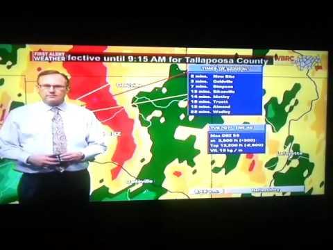 WBRC FOX 6 News Tornado Coverage 1/21/17 Part 1
