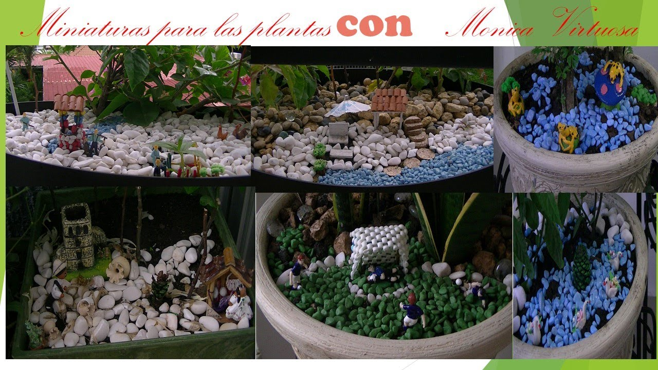 Miniaturas para plantas 2 youtube for Casitas de jardin de plastico