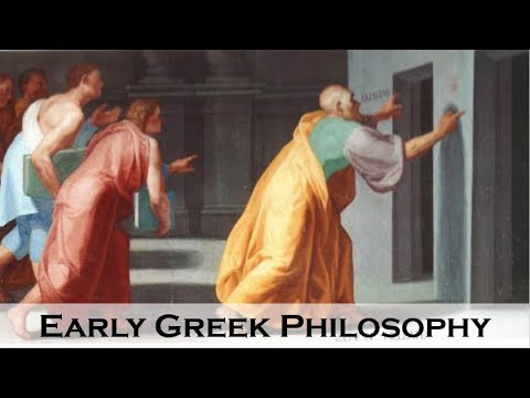 The Early Greek Philosophers