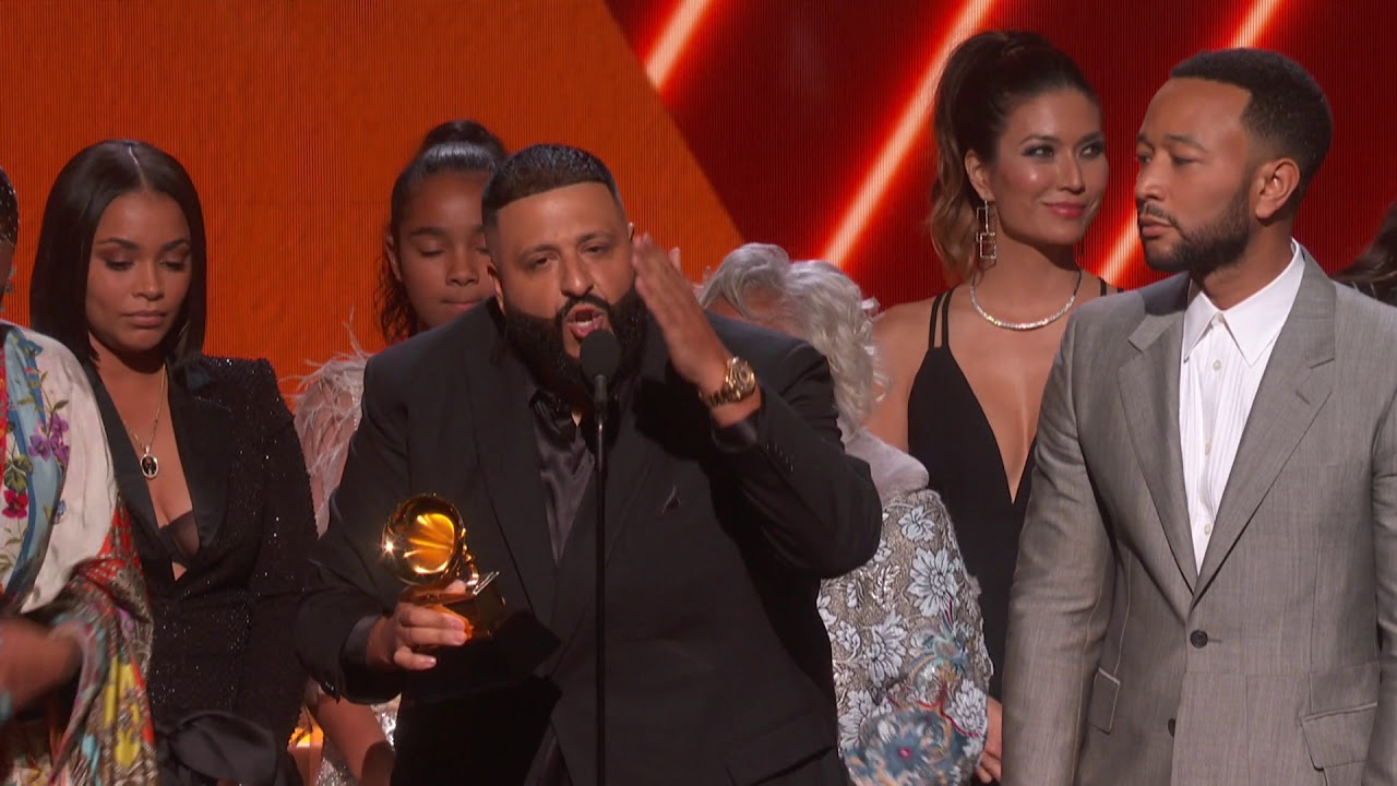 DJ Khaled Nipsey Hussle & John Legend Win Best Rap/Sung Performance | 2020 GRAMMYs Acceptance Sp
