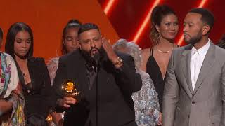 DJ Khaled Nipsey Hussle & John Legend Win Best Rap/Sung Performance | 2020 GRAMMYs Acceptance Speech