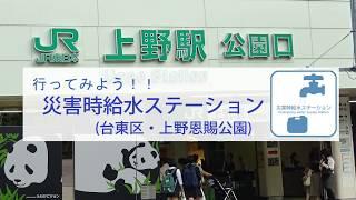 行ってみよう!!災害時給水ステーション(台東区・上野恩賜公園)