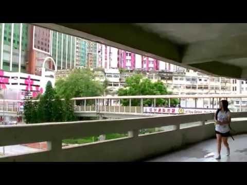2017-香港自由行-大窩口港鐵站沿天橋步行往panda-悅來酒店(熊貓酒店)沿途實景