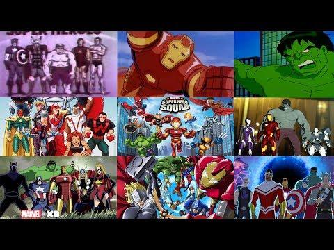 All Marvel Avengers Tv Show Intros (1966 - 2017)