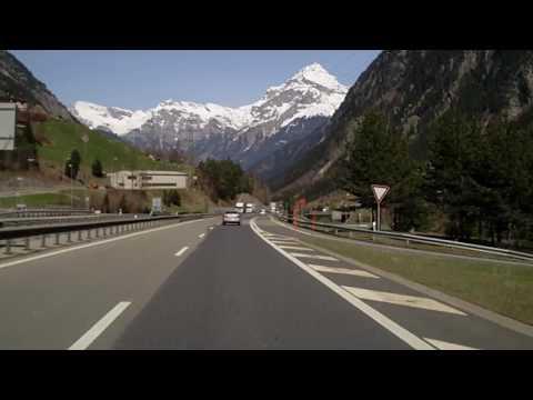 From Göschenen to Zürich @Highway A2/A4 Switzerland 5,88X Speed /04/2010/ HD