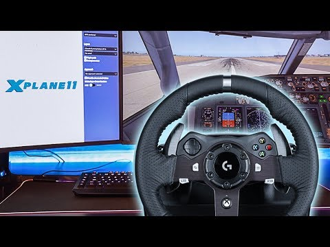 Playing A Flight Simulator With A Steering Wheel