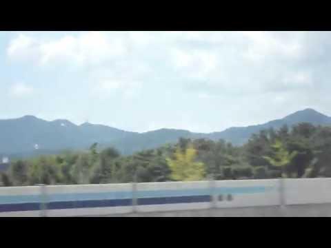 Express Bus from Jeonju to Daejeon . 전주(全州)에서 대전(大田)가는 고속버스. 익산 미륵산.  KOREA.