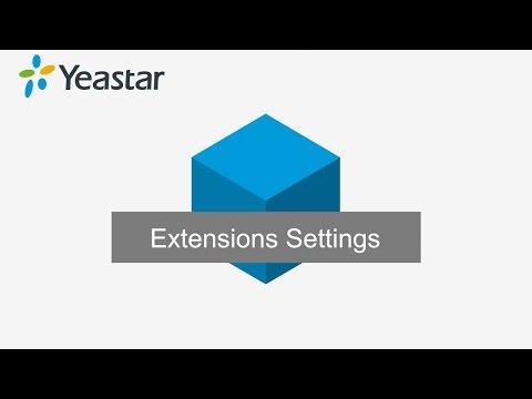 Lesson 4 S-Series PBX Extensions Settings