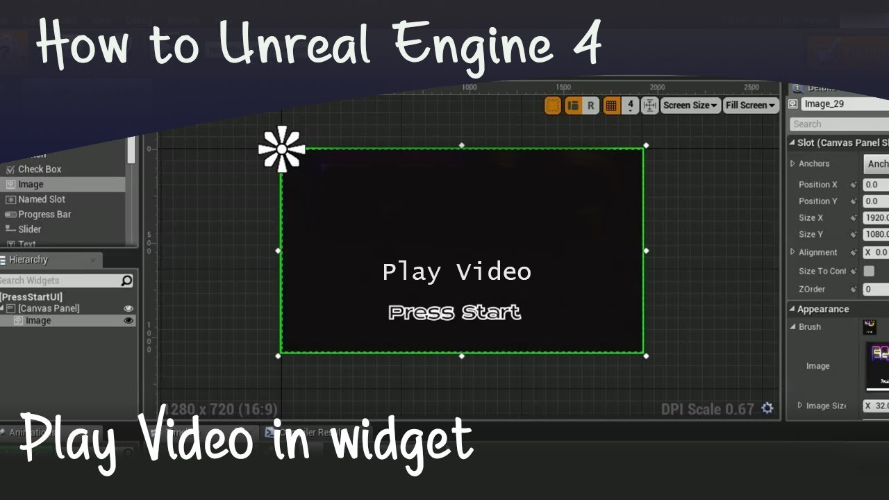 how to play videos in widgets | unreal engine 4 umg tutorial