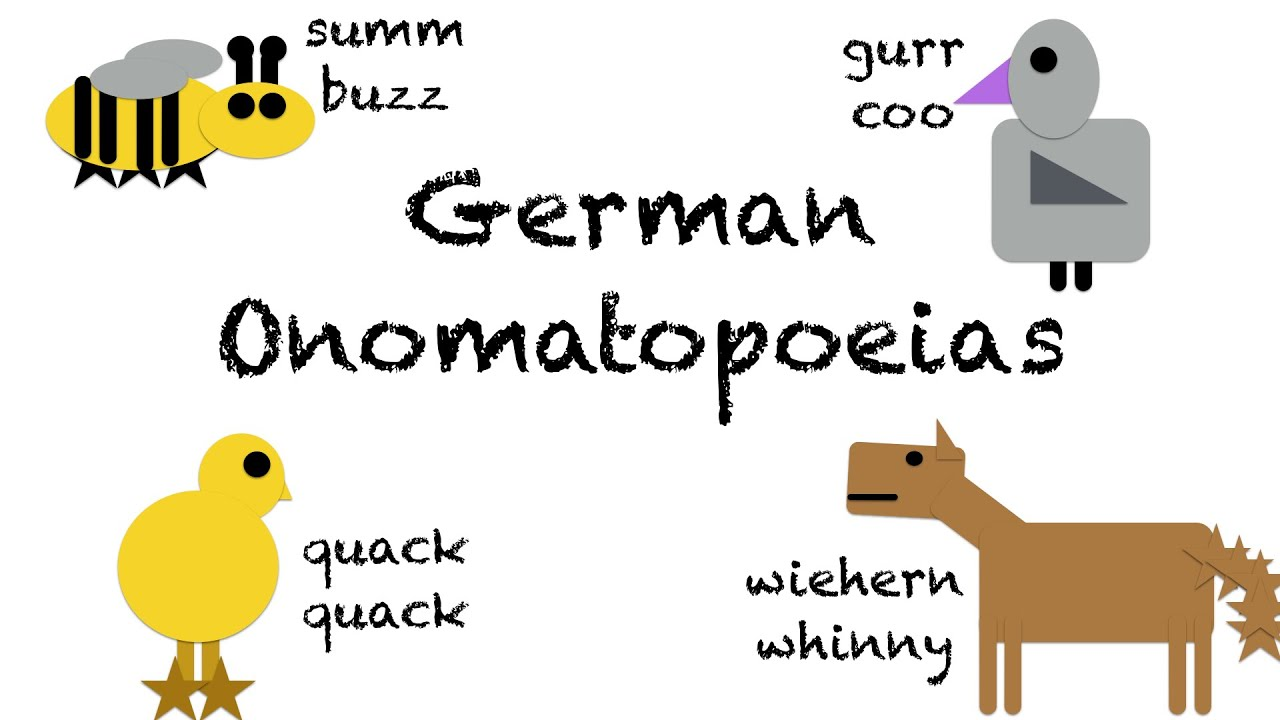 Onomatopoeias In German Deutsch Lernen Youtube