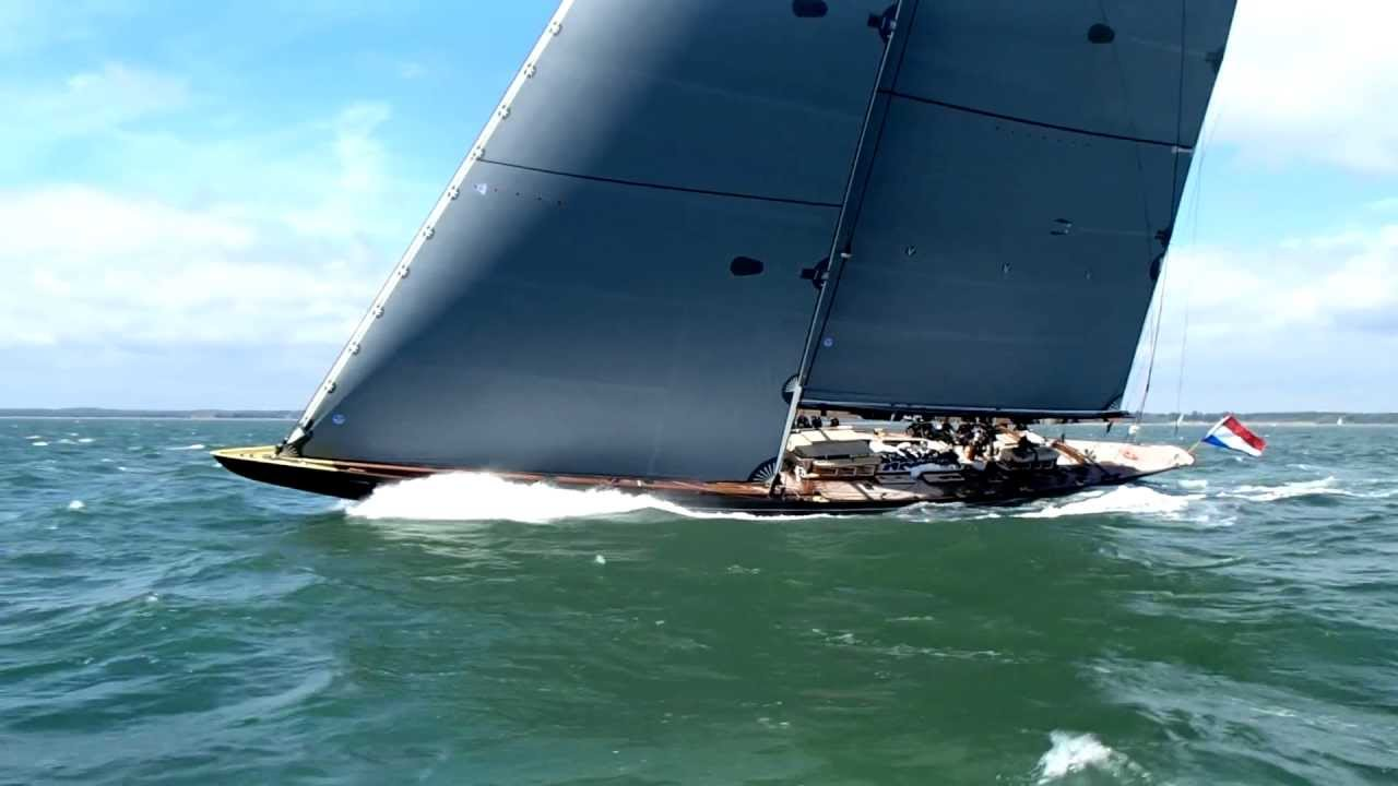 J Class Lionheart Sailing From Onboard Rainbow YouTube