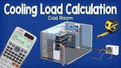 Cooling Load Calculation -  Cold Room hvac