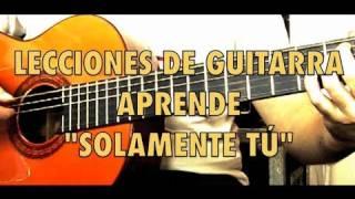 APRENDE ACORDES SOLAMENTE TU PABLO ALBORAN GUITARRA