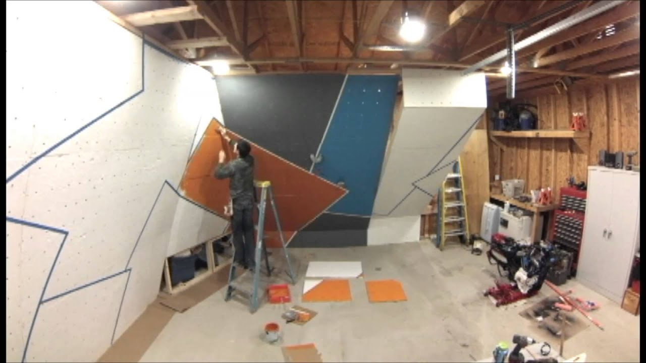 Build A Climbing / Bouldering Wall   Time Lapse Wall Paint   YouTube