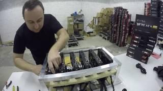 Как собрать ферму для майнинга на 6 видеокарт RADEON RX 470 4GB Подробная инструкция