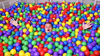 24 Hours in a BALL PIT!