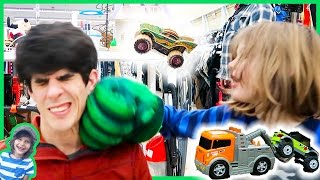 Lego Monster Trucks, Tow Trucks and Punching Axel