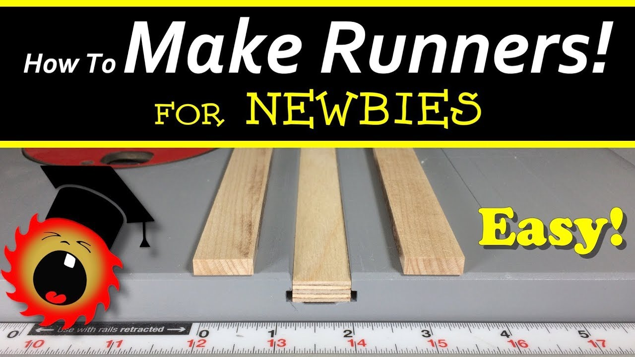 Runners for Ryobi/Craftsman Tabbed Miter Slots - YouTube