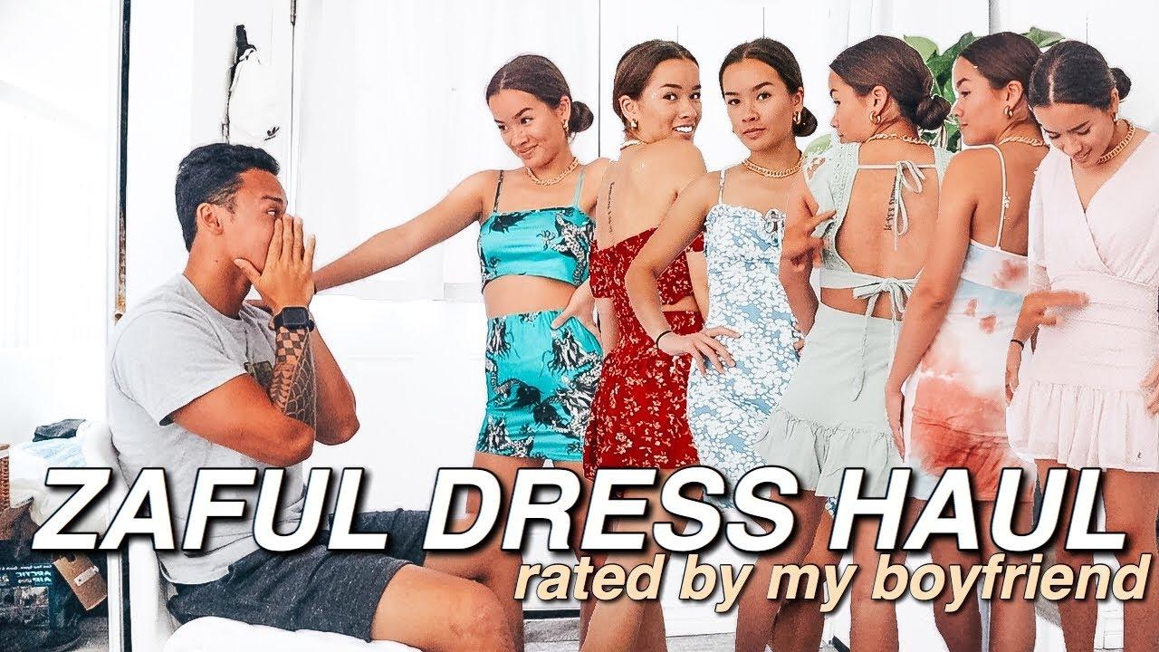 ZAFUL SUMMER DRESS TRY-ON HAUL   My Boyfriend Rates My (11) Zaful Dresses/Outfits!