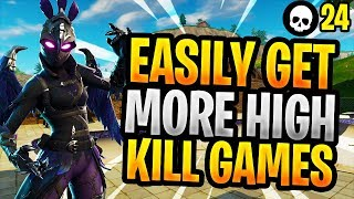 How To EASILY Get More HIGH ELIMINATION Games In Fortnite! (Battle Royale Console + PC Tips)