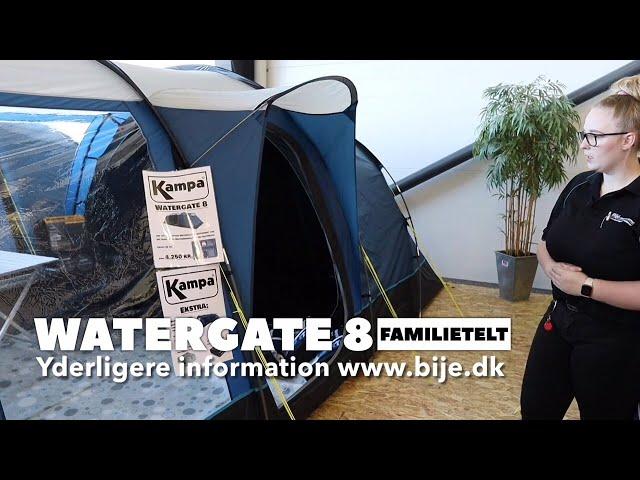 Kampa Watergate 8 Familietelt med stænger