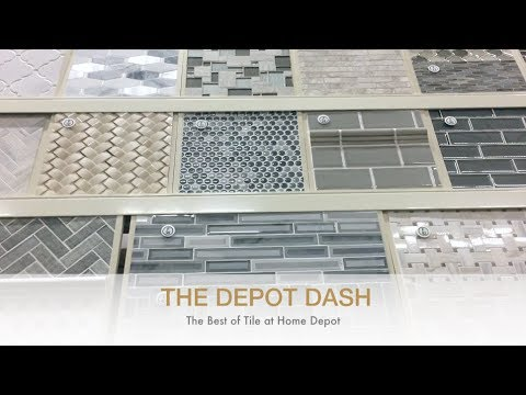 DIY Interior Design - Best Tile At Home Depot - The Depot Dash Episode 1