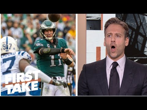 Max Kellerman: Carson Wentz and the Eagles 'got lucky' in their win over Colts | First Take | ESPN